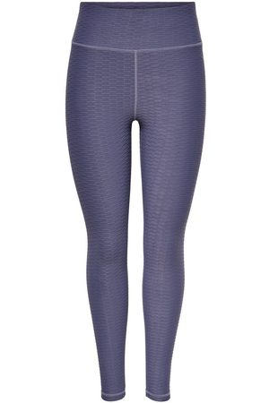 ONLY Effen Gekleurde Trainings Legging Dames Blauw