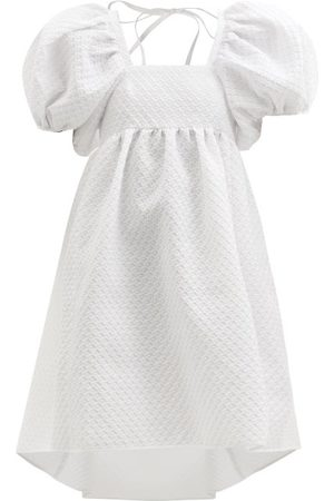Cecilie Bahnsen Dames Korte jurken - Tilde Puff-sleeved Cloqué Dress - Womens - White