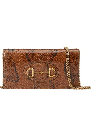 Gucci Horsebit 1955 python chain wallet