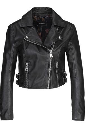Tigha Dames Biker Leren Jasje Forever Young Biker 21031 (black)