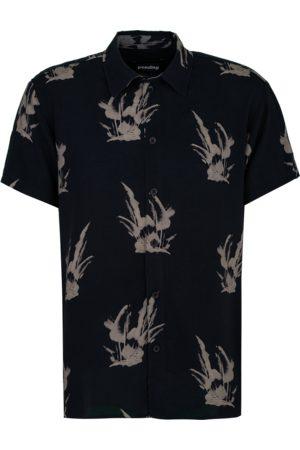 Tigha Heren Overhemd Hadley Print 21031 (Palm Tree AOP/light sand)