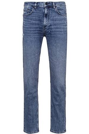 HUGO BOSS Heren Jeans - Regular-fit jeans van biologisch comfort-stretchdenim