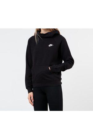 Nike Sportswear Essential Funnel-Neck Fleece Sweatshirt Black/ White