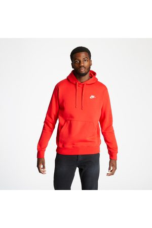 Nike Heren Sweaters - M Sportswear Club Hoodie University Red/ University Red/ White