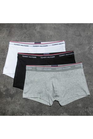 Tommy Hilfiger Heren Boxershorts - 3 Pack Low Rise Trunks Black/ White/ Grey Heather