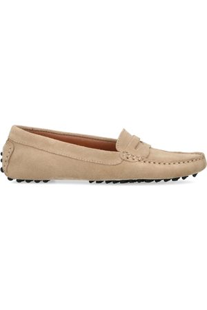 Manfield Dames Loafers - Suède loafers