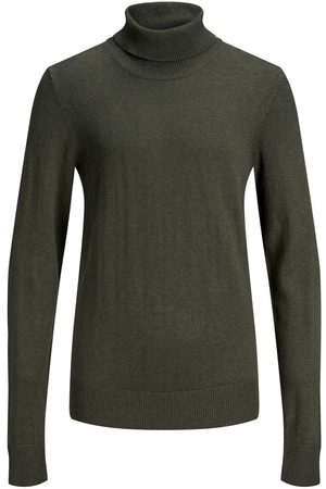 JACK & JONES Heren Gebreide truien - Jongens Roll-neck Gebreide Trui Heren Green