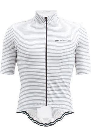 Cafe du Cycliste Francine Striped Jersey Cycling Top - Mens - White