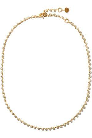 Jade Trau Sophisticate Riviera Diamond & 18kt Gold Choker - Womens - Yellow Gold