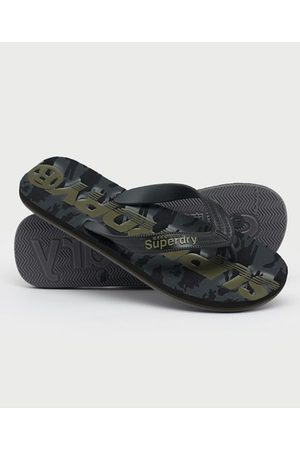 Superdry Heren Slippers - Scuba teenslippers met camouflageprint