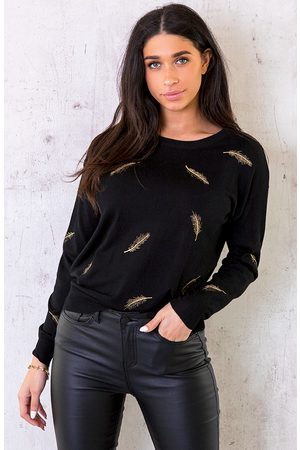 The Musthaves Metallic Feather Trui