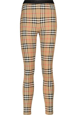 Burberry Vintage Check stretch-jersey leggings