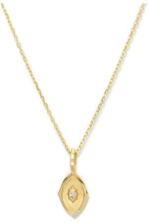 Jade Trau Maverick Medallion Diamond & 18kt Gold Necklace - Womens - Yellow Gold