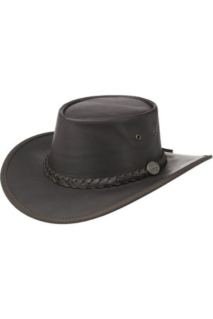 Barmah Squashy Outback Leather Hat by