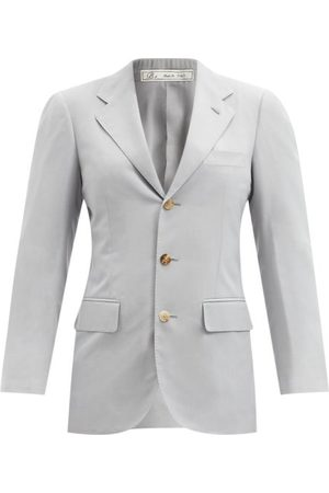 Umit Benan B+ Andy Single-breasted Silk-faille Jacket - Womens - Light Blue
