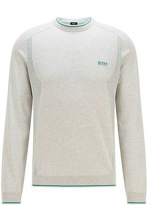 HUGO BOSS Heren Sweaters - Mesh-detail logo sweater in organic cotton