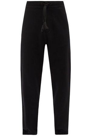 5 MONCLER CRAIG GREEN Drawstring Logo-print Cotton-jersey Track Pants - Mens - Black
