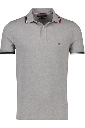 Tommy Hilfiger Polo grijs melange Slim Fit