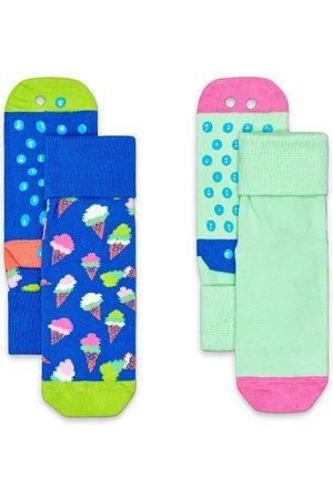 Happy Socks Heren Slips - Sokken 2-Pack Kids Ice Cream Anti Slip Socks