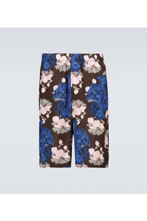 UNDERCOVER Floral and skull printed shorts