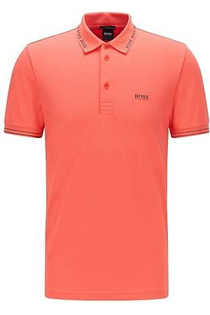 HUGO BOSS Heren Shirts - Slim-fit polo shirt with logo-detail collar