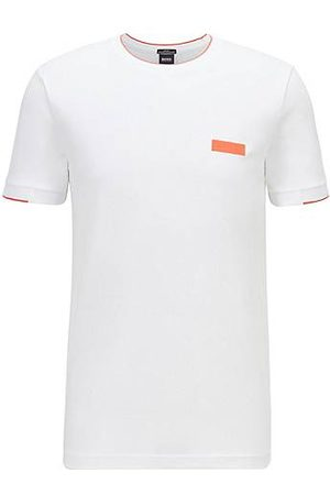 HUGO BOSS Heren Shirts - Slim-fit T-shirt with silicone logo badge
