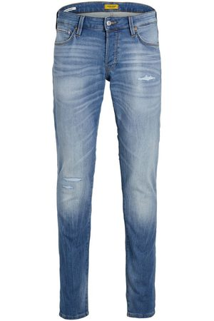 jack & jones Heren Slim - Glenn Icon Ge 276 Indigo Knit Slim Fit Jeans Heren