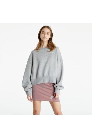 Nike Sportswear W Essential Fleece Crew Dk Grey Heather/ White