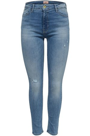 ONLY Mama Olmpaola Life Hw Skinny Jeans Dames Blauw