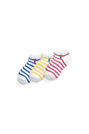 GIRLS 7-14 YEARS Striped Ankle Sock 3-Pack