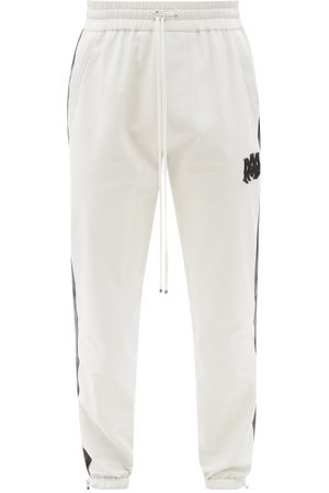 AMIRI M.a. Logo-appliqué Plongé-leather Track Pants - Mens - White