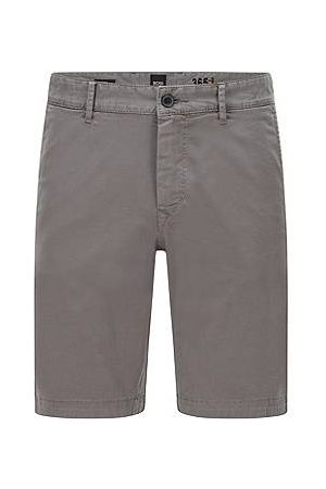 HUGO BOSS Slim-fit shorts van katoentwill met stretch