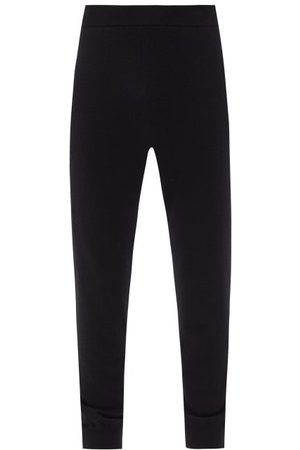 The Row Olivier Cashmere Track Pants - Mens - Black