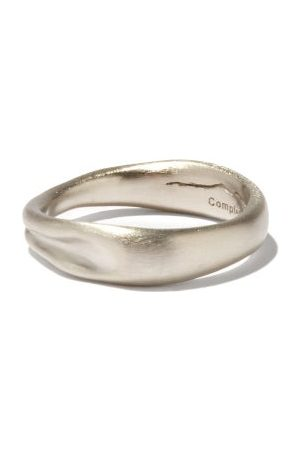 COMPLETEDWORKS Deflated Platinum-plated Sterling-silver Ring - Mens - Silver