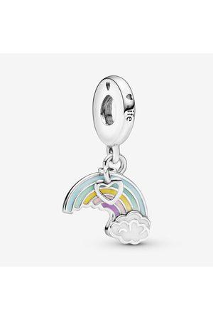 PANDORA Regenboog en Wolk Hangende Bedel, Sieraden uit Sterling zilver, No stone, , 797016ENMX