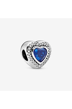 PANDORA Sprankelend Hart Bedel, Sieraden uit Sterling zilver, Crystals, Cubic Zirconia, , 797608NANB