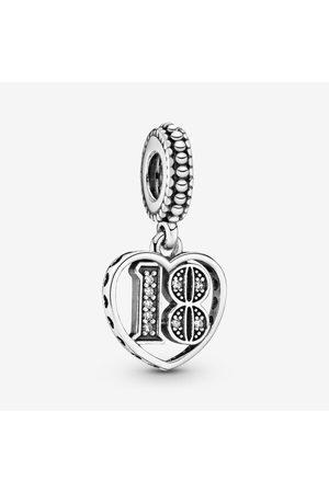 PANDORA Dames Armbanden - 18e Verjaardag Hangende Bedel, Sieraden uit Sterling zilver, Cubic Zirconia, , 797262CZ