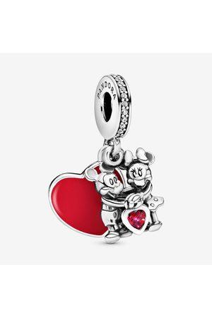PANDORA Disney Mickey Mouse & Minnie Mouse Liefde Hangende Bedel, Sieraden uit Sterling zilver, Cubic Zirconia, , 797769CZR