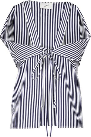 COPERNI Striped cotton poplin top