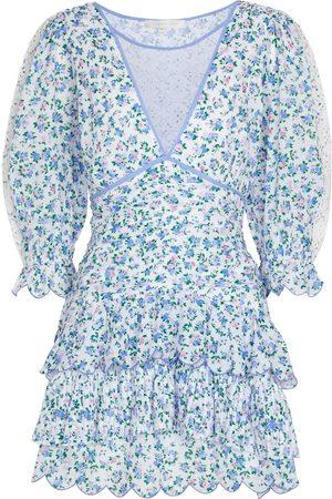 LOVESHACKFANCY Marquise floral cotton minidress