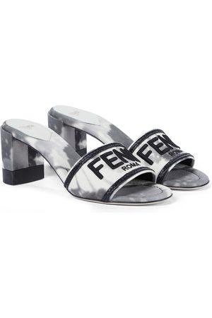 Fendi Signature canvas sandals