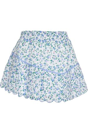 LOVESHACKFANCY Memphis floral cotton miniskirt