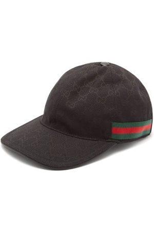 Gucci Web-stripe Gg Logo-jacquard Baseball Cap - Mens - Black