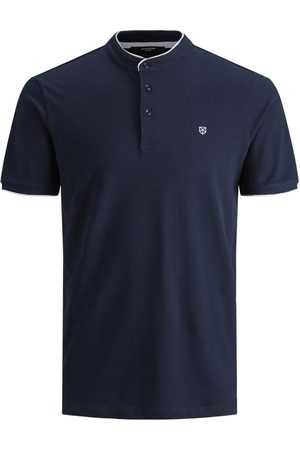 JACK & JONES Heren Poloshirts - Pique Mandarijnkraag Polo Heren