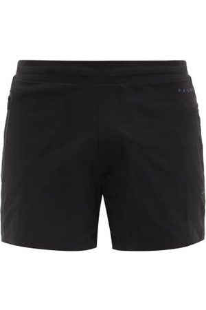 Falke Challenger Drawstring Running Shorts - Mens - Black
