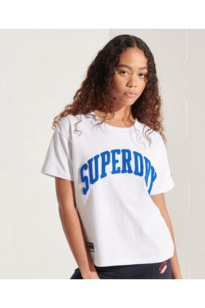 Superdry Varsity Arch T-shirt met wijdvallende pasvorm