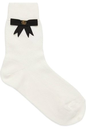 Gucci Cotton blend socks with GG bow