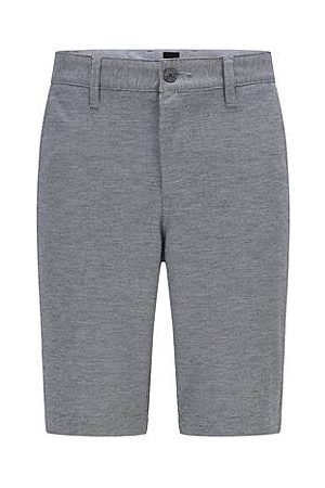 HUGO BOSS Tapered-fit shorts van tweekleurig gebreid stretchmateriaal