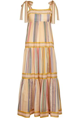 ZIMMERMANN Mae striped cotton maxi dress