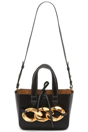 J.W.Anderson Chain-embellished Leather Tote Bag - Womens - Black